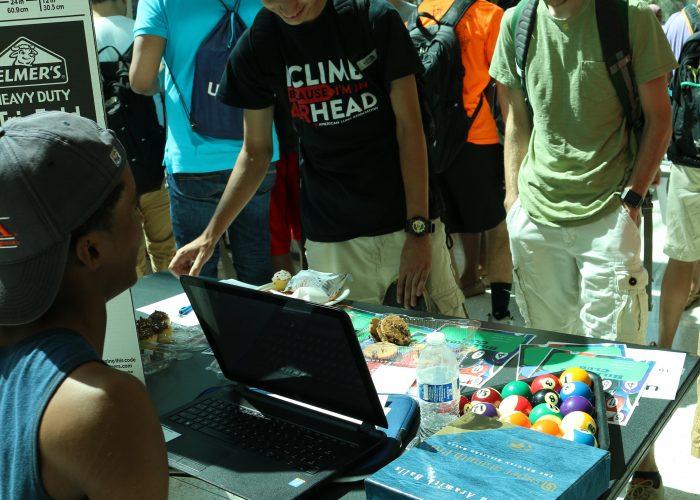 Students at the club fair
